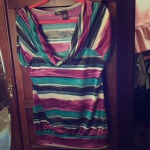 Vanity shirt sleeve blouse